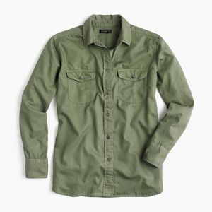 Jcrew Boyfriend Utility Shirt